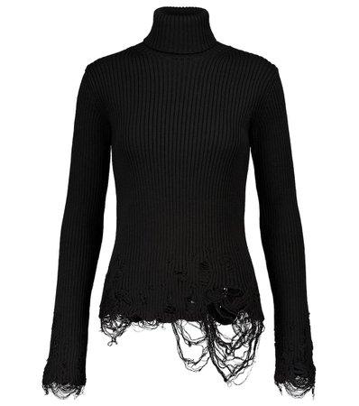 Balenciaga - Stretch-wool sweater   Mytheresa