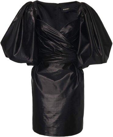 Exclusive Metallic Silk Mini Dress