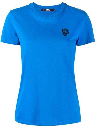 Karl Lagerfeld Mini Ikonik Karl Patch t-shirt - Farfetch