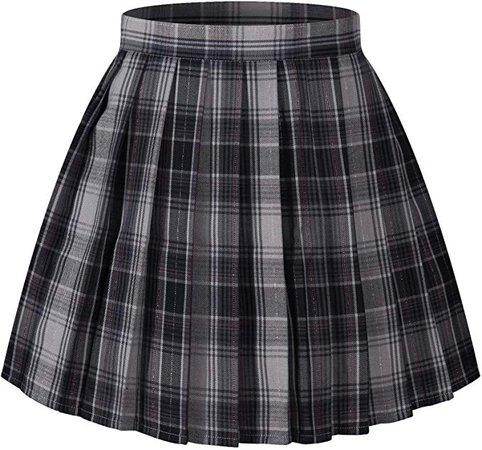 Amazon.com: Girl's Japan School Plain Solid Pleated Costumes Skirts (M,Dark grey): Clothing