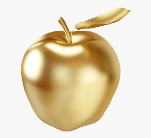 Manzana Sticker - Apple - Free Clipart Golden Apple , Transparent Cartoon, Free Cliparts & Silhouettes - NetClipart