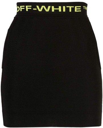 jacquard logo mini skirt