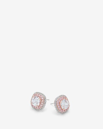 Cubic Zirconia Two Tone Double Pave Earrings | Express