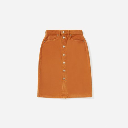 Women's Button-Front Corduroy Skirt | Everlane