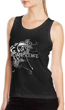 Amazon.com: ABIGAIL PICKERING Evanescence Women's Tank Top Shirt Fashion Sleeveless Leisure Vest Black L: Clothing