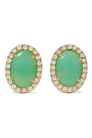 Kimberly McDonald | 18-karat green gold, turquoise and diamond earrings | NET-A-PORTER.COM