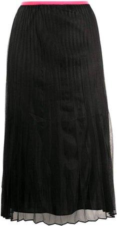 pleated pull-on skirt