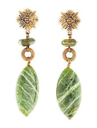 Stephen Dweck Idocrase & Jasper Drop Earrings - Earrings - STD22980 | The RealReal