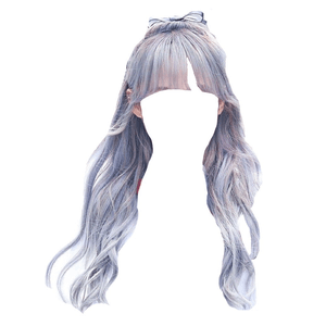 Grey Gray Blue Purple Bangs Hair PNG