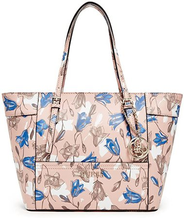 GUESS Women's Delaney Small Classic Tote Floral Multi Handbag: Shoes