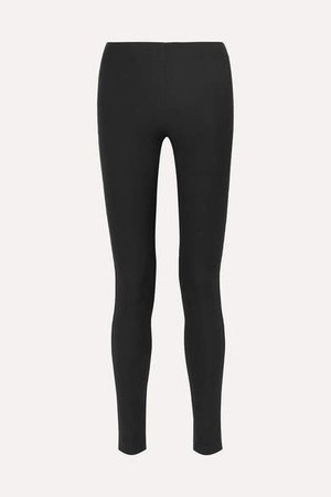 Stretch-garbardine Leggings - Black
