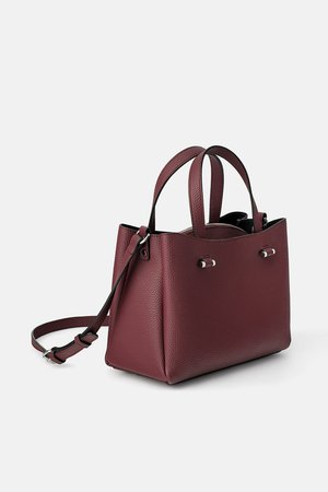 CITY BAG WITH INSIDE ZIP - View all-BAGS-WOMAN-SALE | ZARA New Zealand