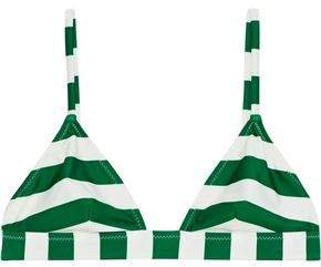 The Morgan Striped Triangle Bikini Top