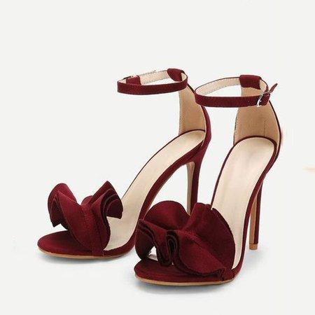 maroon sandals heels - Google Search