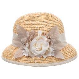 Mayoral - Girls Woven Raffia Sun Hat | Childrensalon