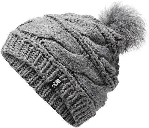 Amazon.com: The North Face Triple Cable Fur Pom - TNF Medium Grey Heather - OS: Clothing