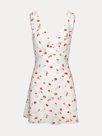 The Isabelli Iluminismo | White Floral Mini Dress | Réalisation Par
