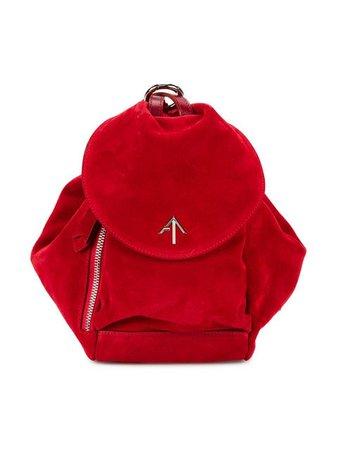 Manu Atelier Red Fernweh Mini Suede Backpack - Farfetch