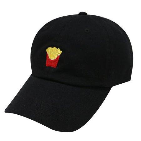 Capsule Design French Fries Cotton Baseball Dad Cap Black | Etsy