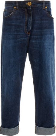 Balmain Dark-Wash Skinny Jeans