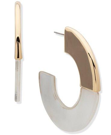 Anne Klein Gold-Tone C-Hoop Earrings & Reviews - Earrings - Jewelry & Watches - Macy's