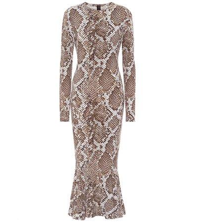 Snake-Print Jersey Dress - Norma Kamali | Mytheresa