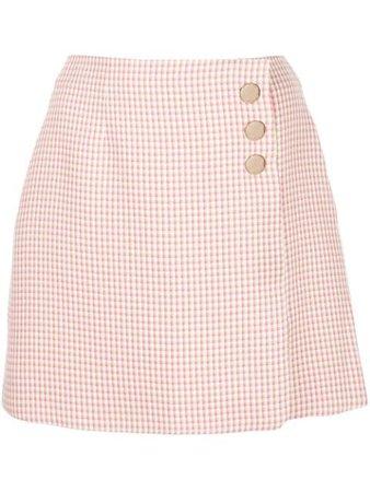 Pink Alexa Chung Checked A-Line Skirt For Women | Farfetch.com