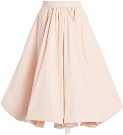 Simone Rocha Pleated Satin Skirt
