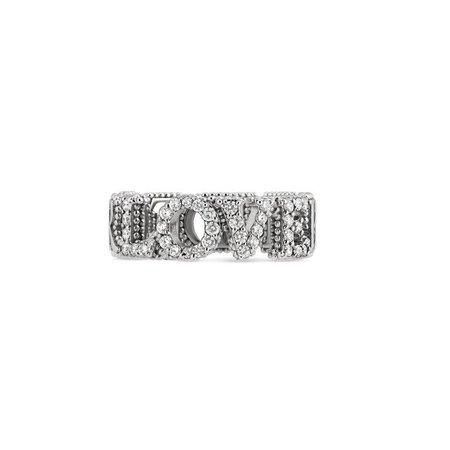 "Gucci ""Blind For Love"" Ring In 18K White Gold | ModeSens"