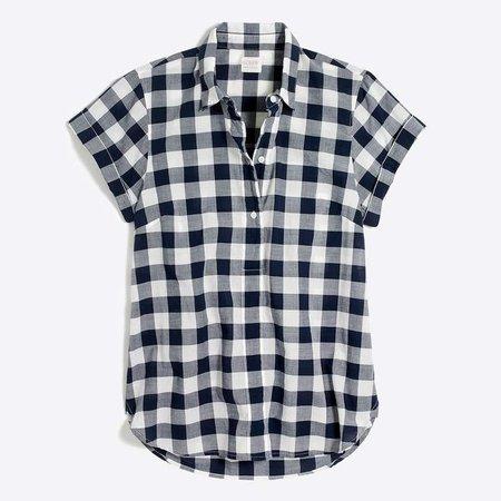 Gingham popover shirt