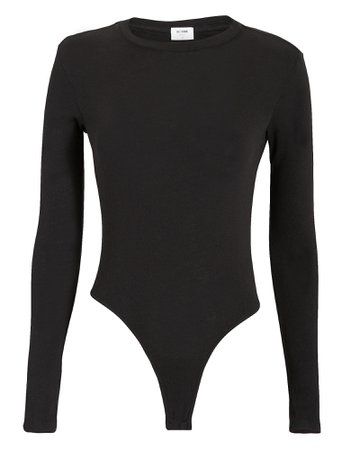 Black Long Sleeve Bodysuit | Re/Done | INTERMIX®