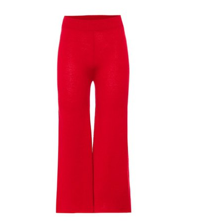 Cashmere wide-leg pants