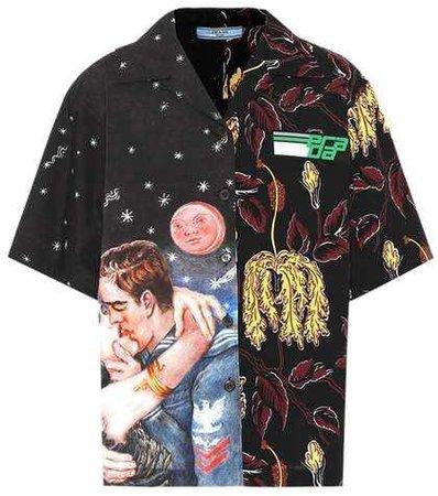 PRADA Printed cotton shirt