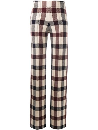 Victoria Victoria Beckham Checked Trousers - Farfetch
