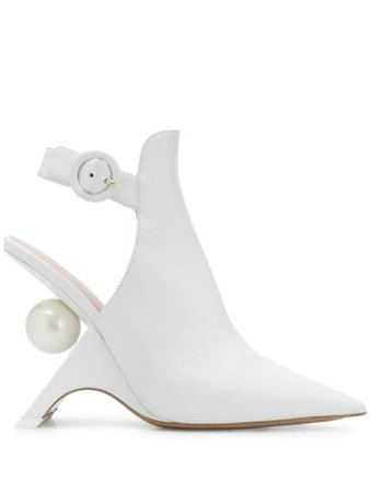 Shop Nicholas Kirkwood JAZZELLE slingback boots 105mm with Express Delivery - FARFETCH
