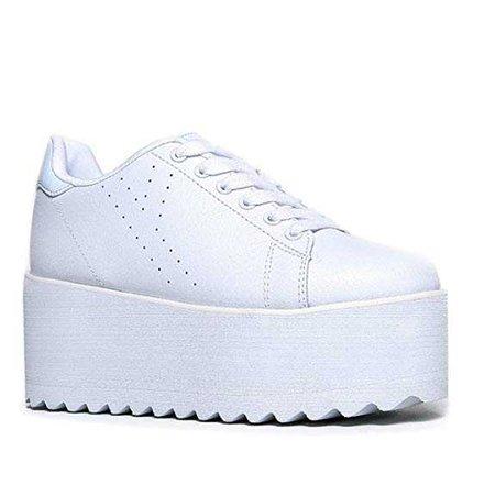 YRU Lala platform sneakers white
