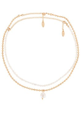 Ettika Layered Pearl Necklace in Gold | REVOLVE