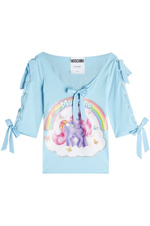 Little Pony Printed Cotton Top with Bows Gr. IT 42