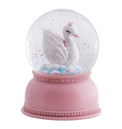 Pink Possum Snowglobe Light Swan