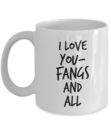 Fangs and All Vampire Mug Vampire Gift Werewolf Mug | Etsy