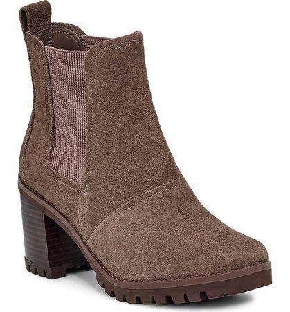 UGG® Hazel Waterproof Block Heel Bootie (Women) | Nordstrom