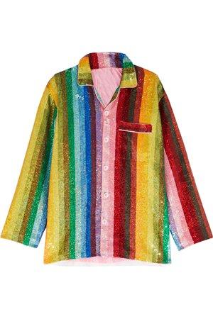 Ashish Striped Sequined Cotton Shirt