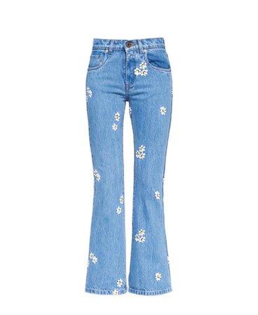 Miu Miu | Floral Embroidered Jeans