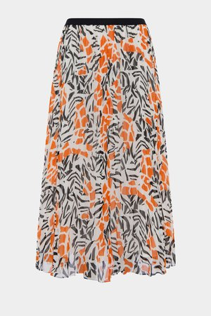 Afra Crinkle Pleated Midi Skrt   New Arrivals   French Connection Usa