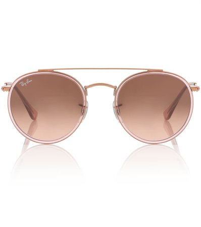 Round Double Bridge Sunglasses - Ray-Ban | mytheresa.com