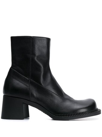 Black Maison Margiela Chunky Mid-heel Boots | Farfetch.com
