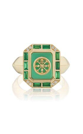 18k Yellow Gold La Ruota Ring By Sorellina | Moda Operandi