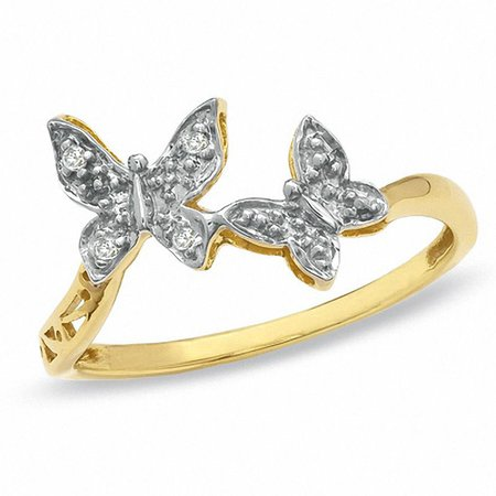 gold butterfly ring - Google Search