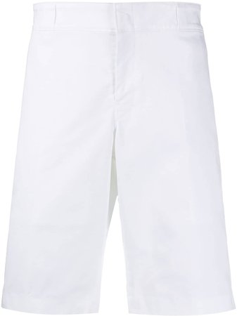 Prada Triangle Logo Patch Bermuda Shorts SPG73S1911GQS White   Farfetch