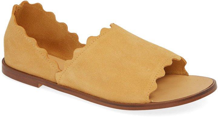 Lisette Scalloped Slip-On Flat
